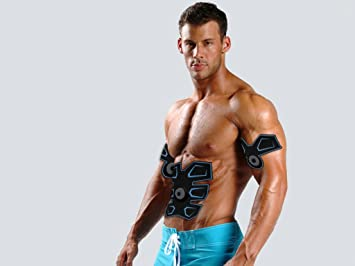 TonePack Six Pack Electric Stimulator Muscle Toner Machine - Also Works  Biceps and Arms + Leg Muscles = Get A Full Body Workout With The Latest
