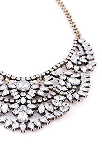 Happiness Boutique Femmes Collier Plastron Vintage | Collier de Mariage XXL en Or sans nickel et plomb