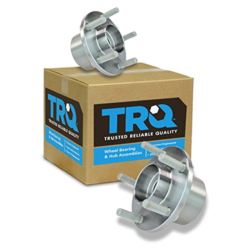 TRQ Front Wheel Hub and Bearing Left LH & Right RH Pair Set of 2 for Volvo S40