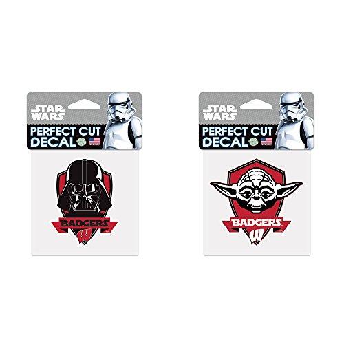 Wisconsin Badgers NCAA Star Wars Darth Vader Die Cut Car Decal And Yoda Bundle 2 Pack - Die Bundle