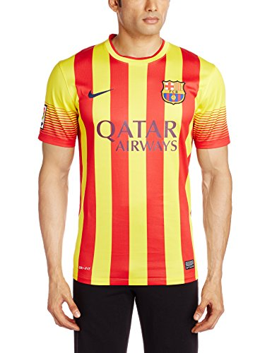 Nike FC Barcelona SHORT SLEEVE AWAY REPLICA JERSEY (VIBRANT YELLOW) (L)