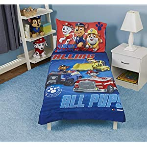 Paw Patrol Paw Patrol Calling All Pups 4-Piece Toddler Bedding Set 14
