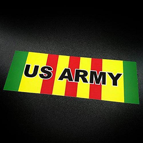 Vietnam Ribbon US ARMY - Sticker (Vietnam Veterans Stripe)