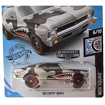 Hot Wheels Zamac '68 Chevy Nova 73/250, Rod Squad Series 6/10: Toys & Games