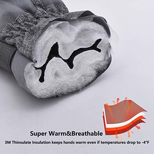 Ski&Snow Gloves Waterproof &Windproof Snowboard Gloves,3M Thinsulate Cold Weather Gloves, Winter Warm Gloves for Men &Women