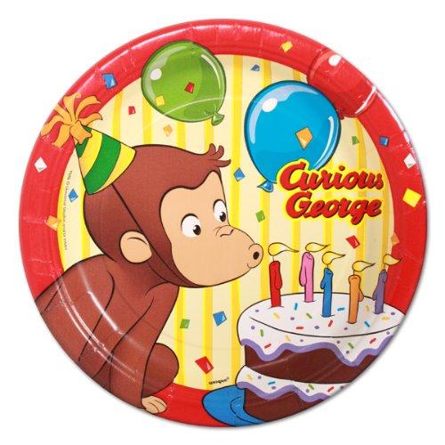 Curious George Dessert Plates (8 count), Health Care Stuffs