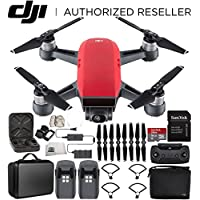 DJI Spark Portable Mini Drone Quadcopter Fly More Combo Portable Bag Shoulder Travel Case Bundle (Lava Red)