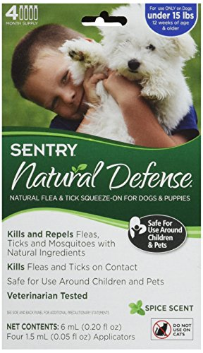 Sergeants Pet Care - Sergeant's Pet Care Products, Inc. Sentry Natural Defense for Small Dogs 4 Count
