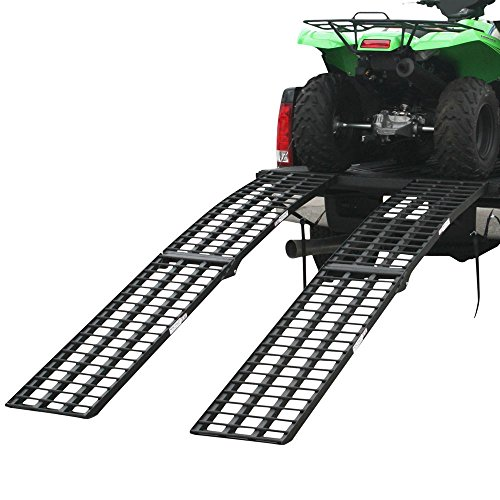 "Rage Powersports 108"" Black Widow 4-Beam Arched Dual Runner Extra Wide Off-Road ATV Loading Ramps"