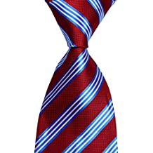 Mr.ZHANG New Classic Striped JACQUARD WOVEN Silk Men's Tie Necktie