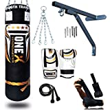 NEW 3-4-5 FT Filled Heavy Punch Bag Buyer Build Set,Chains,Bracket, Punching Gloves for Training...