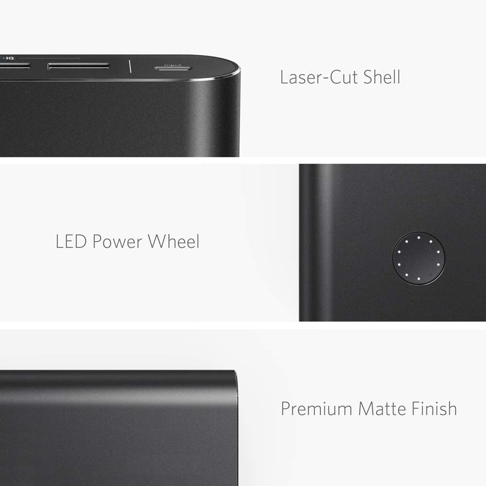 Anker PowerCore+ 26800, Premium Portable Charger, High Capacity 26800mAh External Battery with Qualcomm Quick Charge 3.0 (in- and Output), Includes PowerPort+ 1 Wall Charger by Anker (Image #5)
