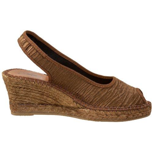 Azura Par Spring Step Sandale Compensée En Jean Espadrille Pour Femme