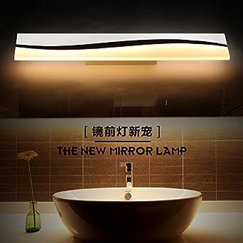 YYSTORR Moderne Minimalistische Kosmetikspiegel Led Spiegel Leuchten Lampe  Nachttischlampe Ideen Badezimmer Badezimmer Schrank Wandleuchte,50Cm