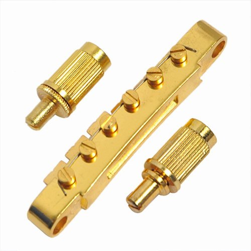 Musiclily ABR-1 Style Tune-o-matic Bridge for Gibson Gear Les Paul Electric Guitar Replacement, Gold