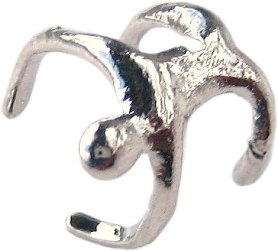 Pendiente de oreja de cartílago con diseño de hombre de escalada