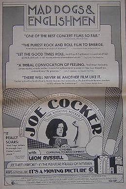 Joe Cocker Mad Dogs and Englishmen Original 1971 Movie Film Promo Poster Newspaper Ad from ConcertPosterArt