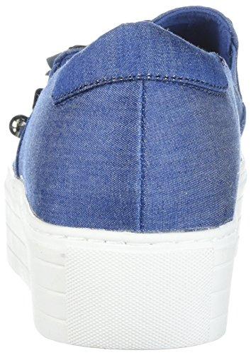 Platform Blue Women's Floral Kenneth Cole Applique REACTION Slip Cheer aqOY8HRw