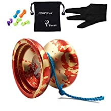 Authentic MAGICYOYO N Authentic Magicyoyo N12 Shark Honor Professional Yyo with 5 Strings& Glove& Bag for Gift Toy, Aluminum