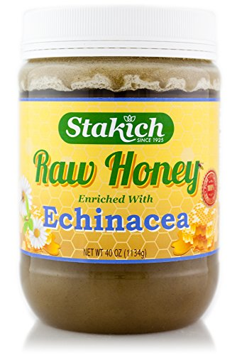 UPC 099977022566, Stakich ECHINACEA Enriched RAW HONEY 40-OZ - 100% Pure, Unprocessed, Unheated -