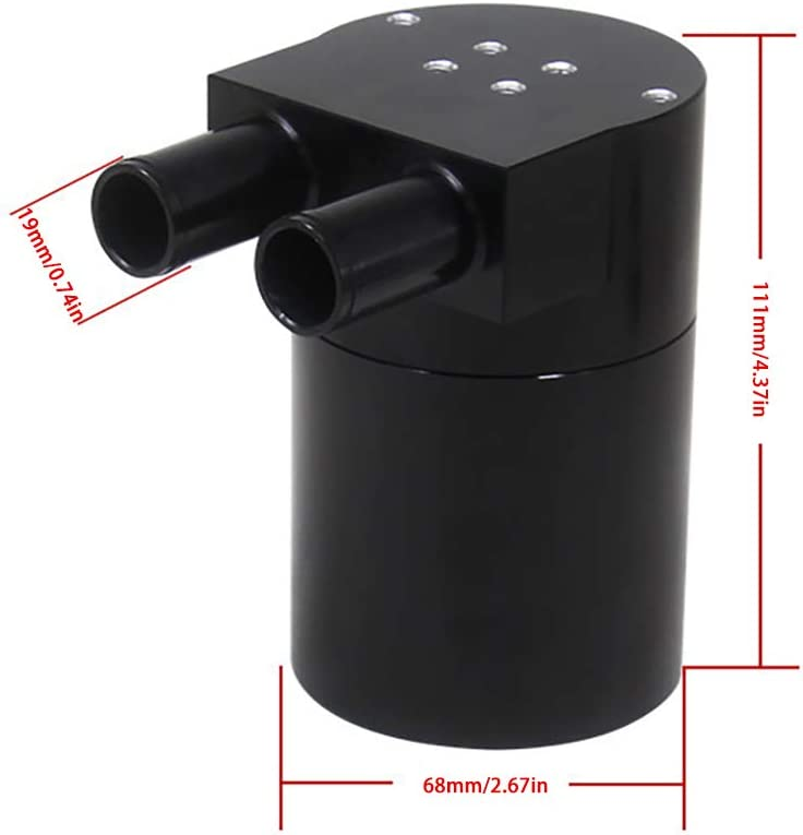 Juanshi 1 Pcs Oil Catch Can Motoren und Komponenten Aluminiumlegierung Auto Reservoir Oil Catch Can Tank