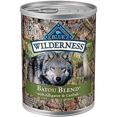 Blue Buffalo Wilderness Bayou Blend High Protein Grain Free, Natural Wet Dog Food, Alligator & Catfish 12.5-oz can (Pack of 12)
