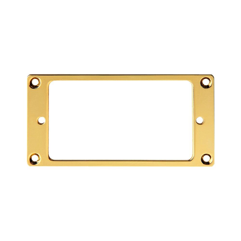 Kmise Z4540 4 Piece Flat Metal Humbucker Pickup Mounting Ring - Black/Gold