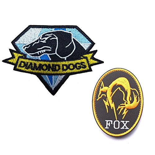GrayCell Military Morale Diamond Dogs and Metal Gear Solid Fox Patch (Metal Loop Hook)