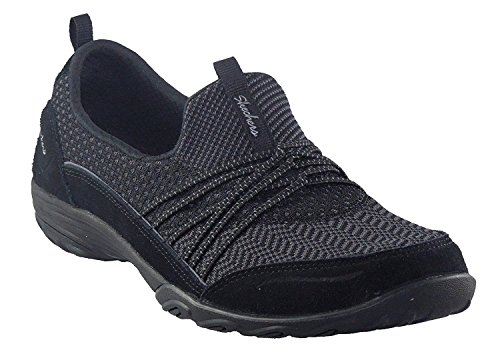 Skechers Sport Women's Empress Fashion Sneaker, Black, 8.5 M US