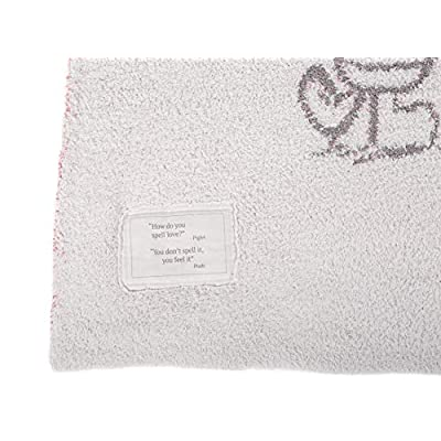 Barefoot Dreams The CozyChic Disney Winnie The Pooh Blanket, Multicolor Throw, Double Layer Jacquard Knit: Home & Kitchen