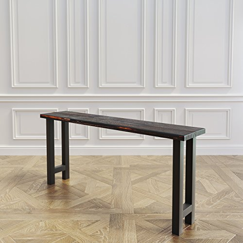 Reclaimed Wood & Steel Sofa Table or Console Table