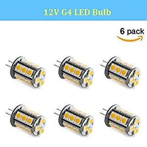 Makergroup T3 G4 Bi-pin LED Light Bulb 12VAC/DC Low Voltage 3Watt Warm White 2700K-3000K for Outdoor Landscape Lighting Path Lights, Deck Lights, Step lights,Paver lights 6-Pack