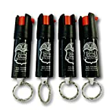 Police Magnum OC Pepper Spray with UV Dye and Twist Top, 0.5-Ounce Keyring (Pack of 4)