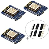 IZOKEE D1 Mini NodeMcu Lua 4M Bytes WLAN WIFI Internet Development Board Base on ESP8266 ESP-12F for Arduino, 100% Compatible with WeMos D1 Mini (Pack of 3)
