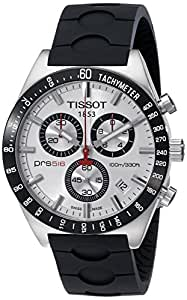 Tissot PRS516 T0444172703100 - Reloj de caballero de cuarzo, correa de piel color negro