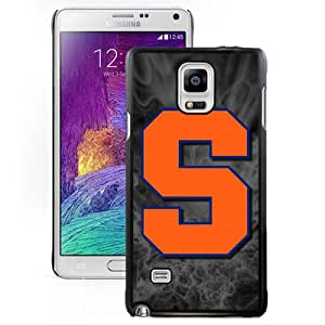 Beautiful Designed With NCAA Atlantic Coast Conference ACC Footballl Syracuse Orange 4 Protective Cell Phone Hardshell Cover Case For Samsung Galaxy Note 4 N910A N910T N910P N910V N910R4 Black