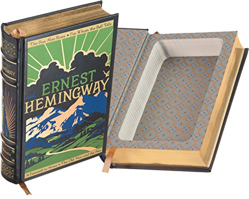 Real Hollow Book Safe - Ernest Hemingway (Leather-bound) (Magnetic Closure)