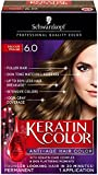 Schwarzkopf Keratin Color Anti-Age Hair Color Cream, 6.0 Delicate Praline