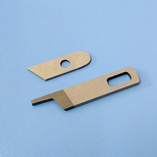 HONEYSEW Upper knife 412585 & Lower Knife 550449 For Singer 14CG754 Pfaff 4762 4772 Babylock Serger Machine (Serger Pfaff)