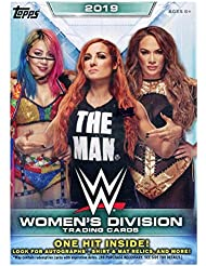 2019 Topps WWE Women's Division EXCLUSIVE Factory Sealed Retail Box with HIT of either Autograph, Shirt & Mat Relics & More! Look for Autos & Relics of Top WWE Female Superstars! ON FIRE! WOWZZER!