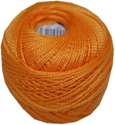 PERLOVKA Kreuzstichgarn Baumwolle Perlgarn 10g 85m Tex60*2 orange aprikose 2732
