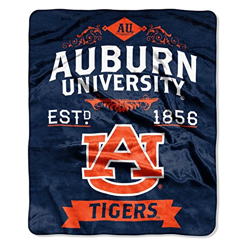 The Northwest Company Officially Licensed NCAA Auburn Tigers Label Plush Raschel Throw Blanket, 50