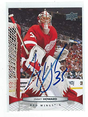 (Jimmy Howard Signed 2011/12 Card #135 - Upper Deck Certified - Hockey Slabbed Autographed Cards)