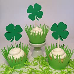 Piece of Cake Parties St. Patrick's Day Cupcake Toppers, Get Lucky , Set of 12