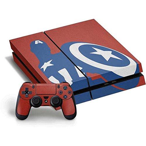 Marvel Captain America Ps4 Horizontal Bundle Skin   Captain America Silhouette Vinyl Decal Skin For Your Ps4 Horizontal Bundle