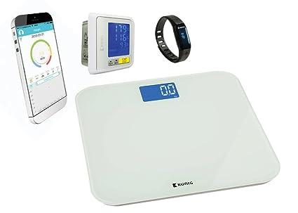 Pulsera de actividad + báscula personal + tensiómetro de muñeca Bluetooth®