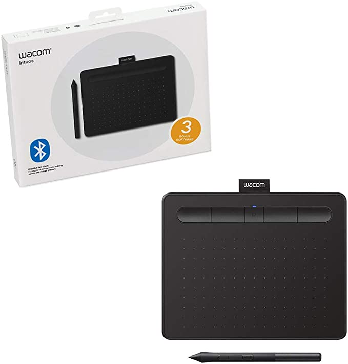 Wacom CTL4100WLK0 Intuos Wireless Graphics Drawing Tablet with Software Included 79 X 63 Black at Kapruka Online for specialGifts