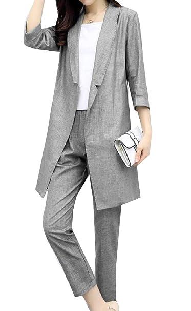 Amazon.com: Fseason-Women Tendths Pantalones cónicos ...