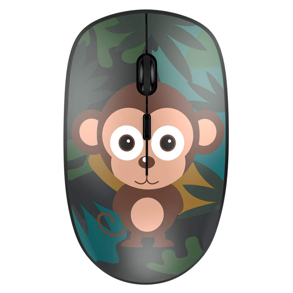Nulaxy 2.4G Ergonomic Wireless Mouse, Portable Mobile Computer Mouse Optical Mice with USB Receiver, 3 Adjustable DPI Levels, Compatible with Notebook, PC, Laptop, Computer, MacBook - Monkey