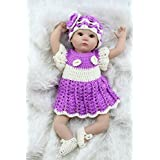 Galaxydoll Soft Silicone Reborn Baby Doll Baby Alive Doll For Girls Vinyl Stuffed Toys Hand Crocheted Clothes